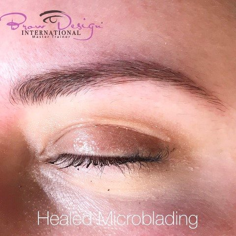 healed micorblading eyebrows